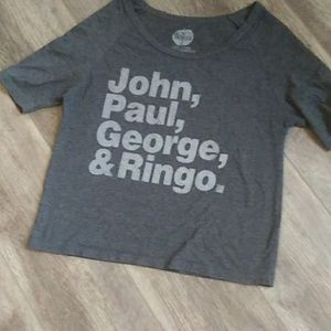 Beatles crop shirt